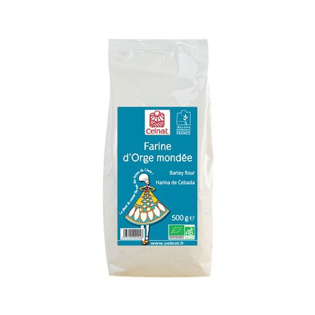 Farine d'Orge mondée bio 500 gr Celnat - farine bio