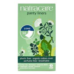 16 protège slips naturels incurvés très longs pliés et emballés