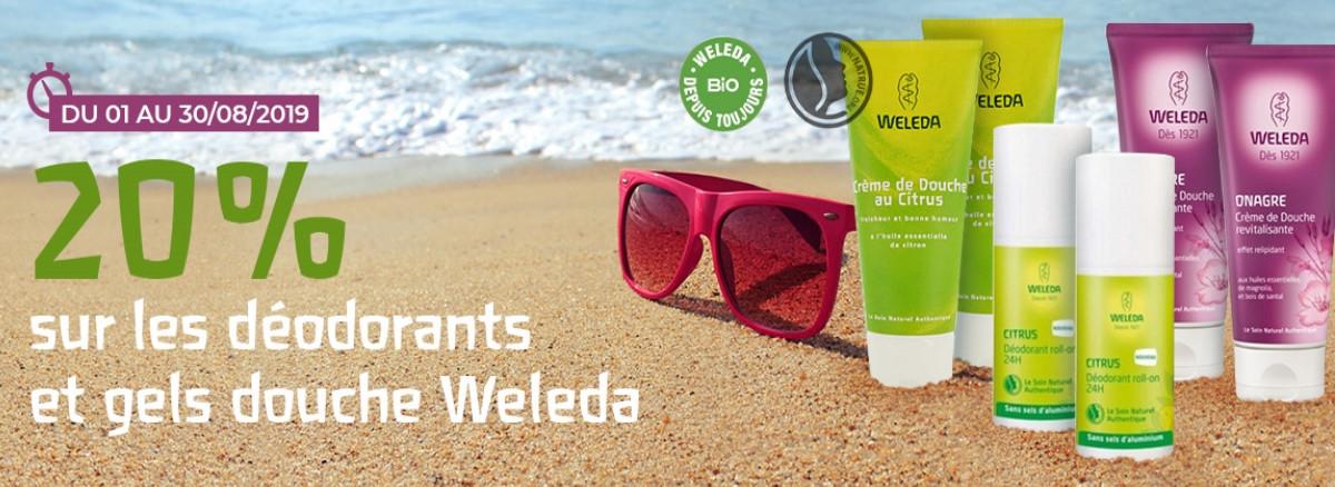 -20% sur les déodorants et les gels douche weleda