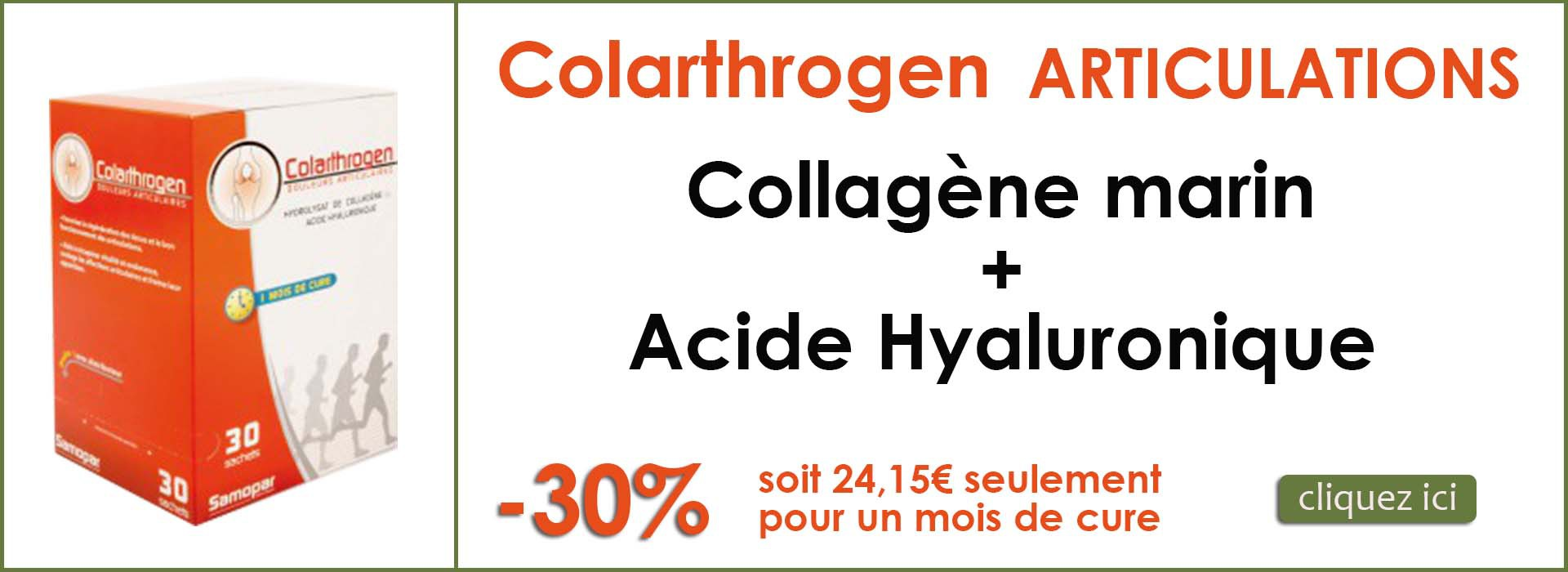 Colarthrogene collagene marin + acide hyaluronique articulations