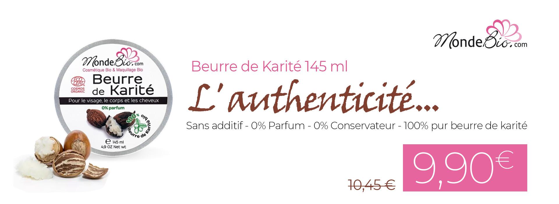 Beurre de Karité MondeBio à 9,90 €