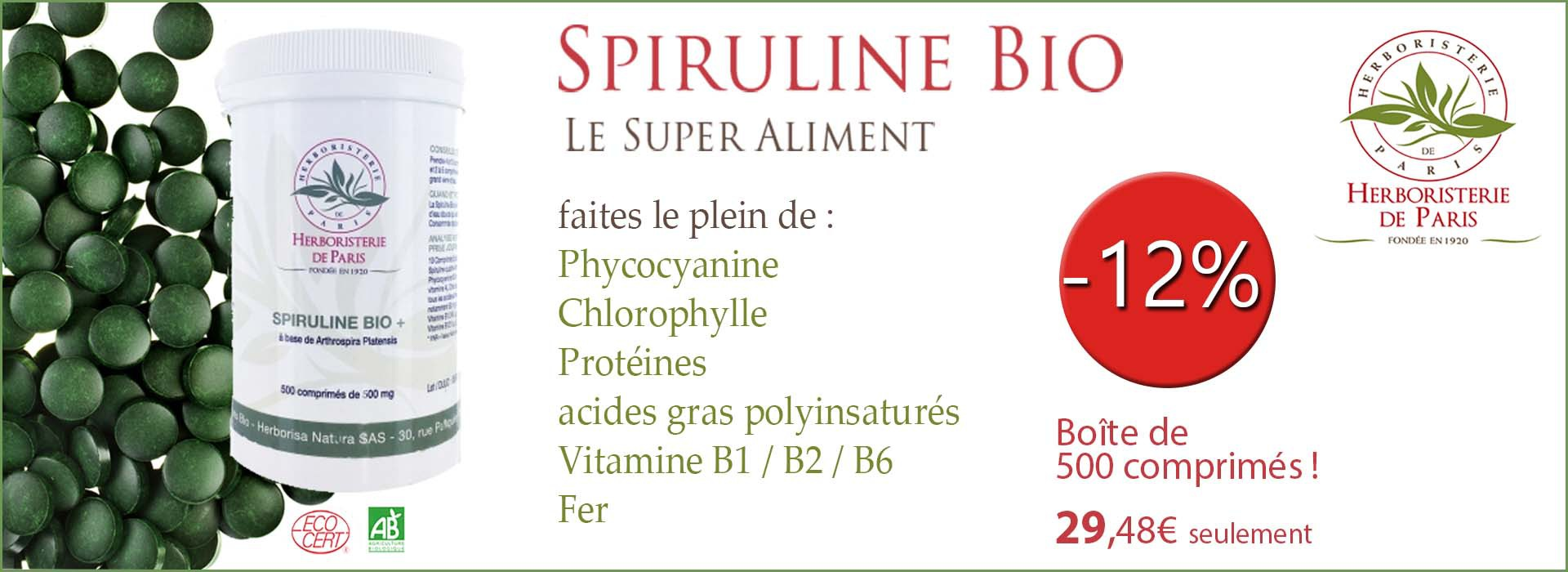 spiruline bio Herboristerie de Paris