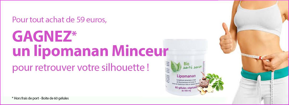 1 Boite Lipomanan 60 gélules gratuite dès 59 euros d'achat