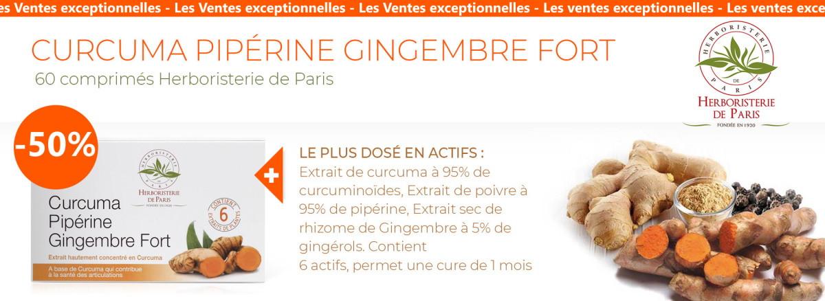 curcuma piperine gingembre 60 comprimés