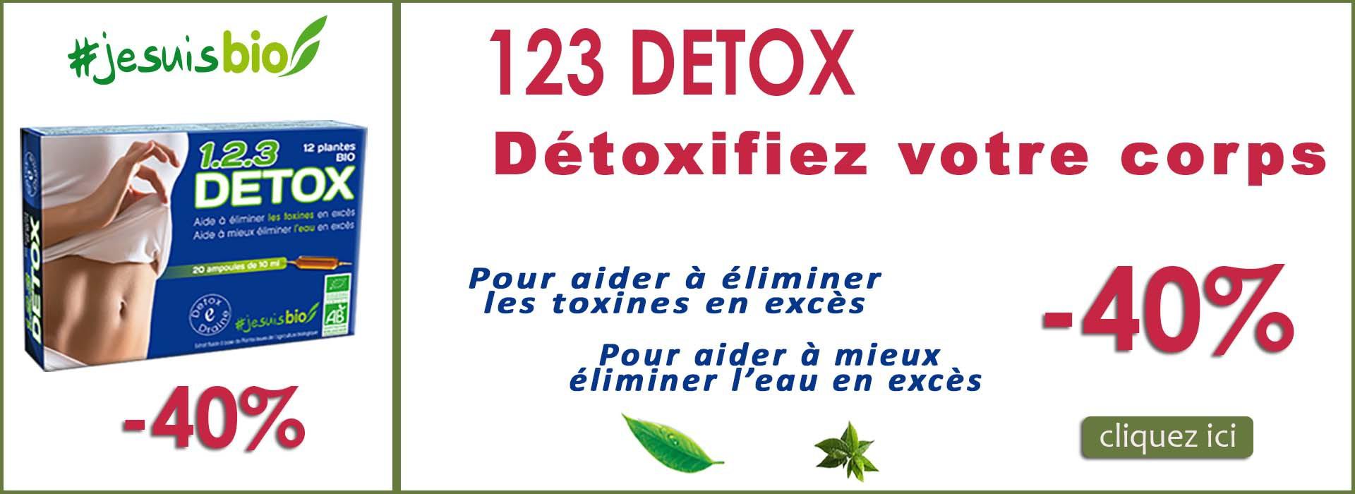 123 detox promotion -40 pourcent