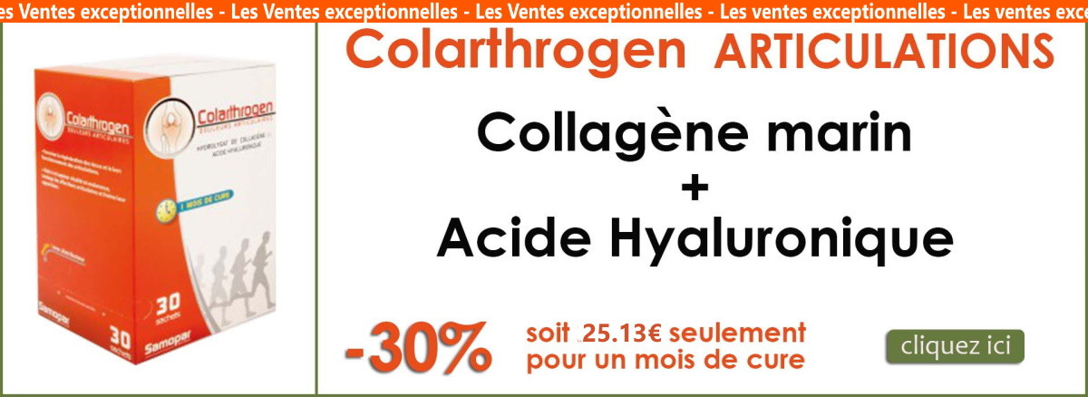 Colarthrogene collagene marin + acide hyaluronique articulations