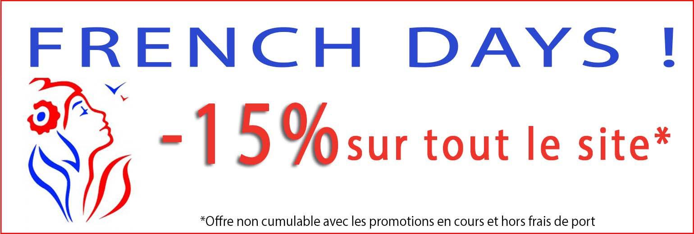 French Days - 15% sur tout le site !